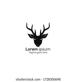 vector deer logo design template