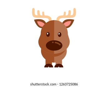 Vector Deer on a white background