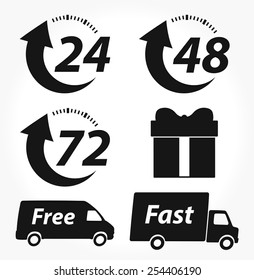 Vector Delivery Black Icons