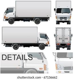Vector delivery / cargo truck