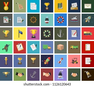 Vector Delivery Icons set. Priority Shipping, Express Delivery, Tracking Order and more shipping Icons