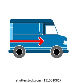 Vector Delivery truck Icon. Priority Shipping, Express Delivery, shipping and Delivery Icon