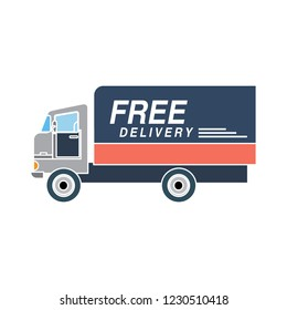 vector delivery truck isolated icon - transport van illustration sign . lorry truck sign symbol