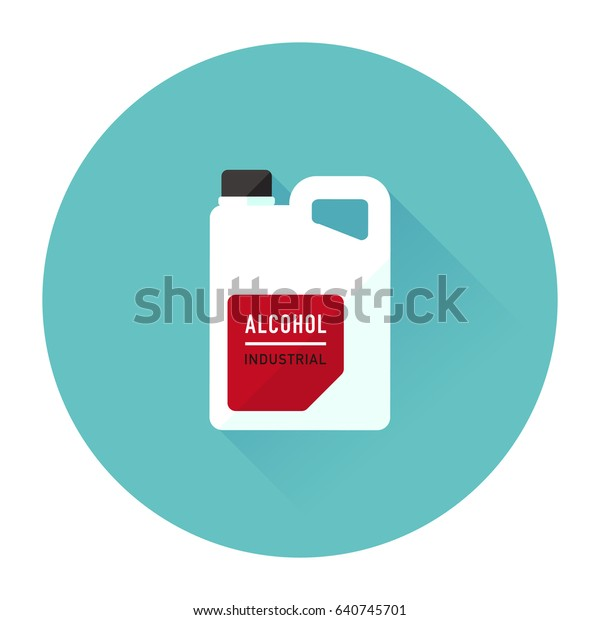 Vector Denatured Alcohol Industrial Spirit Isolated Stock Vector