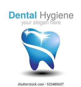 Vector dentist logo design template. Tooth symbol for Dental clinic or mark for dental hygiene