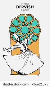 Vector DERVISH Sketch - Hand Drawn Dervish