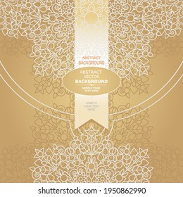Vector design with abstract hand drawn waves pattern with decorative element. Template design for card. Wedding invitation.