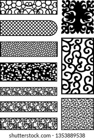 vector design for art cam software for furniture for carving door design and plywood partition foam, acrylic and cnc machine cutting or carpenter work