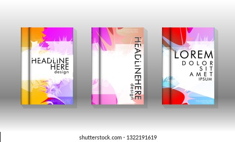 Vector design of background cover with colorful abstract spray patterns. Color mixture.