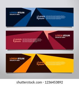 Vector design Banner background modern.Web template