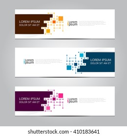 Vector design Banner backgrounds.