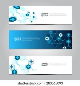 Vector design Banner Medical background.