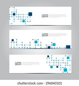 Vector design Banner network technology medical background. illustration EPS10
