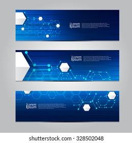 Vector design Banner network technology  background.