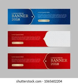 Vector design banner web template for sport event, 2018 trend