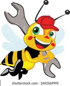 vector design of a bee design