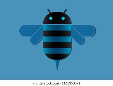 vector design of bee logo