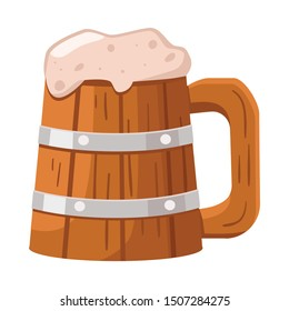 Vector design of beer and mug icon. Web element of beer and wood stock symbol for web.