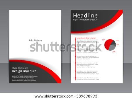 vector design black white flyer cover stock vector royalty free