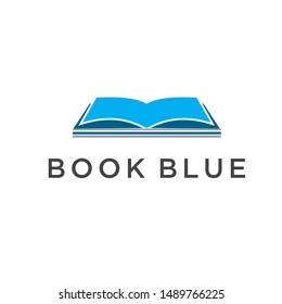vector design of a blue book logo
