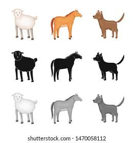 Vector design of breeding and kitchen logo. Set of breeding and organic vector icon for stock.