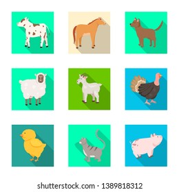 Vector design of breeding and kitchen  symbol. Collection of breeding and organic  stock vector illustration.
