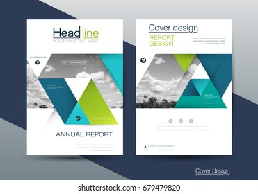 Vector design brochure flyer, business annual report. flier, leaflet, pamphlet brochure. Layout template in A4 size