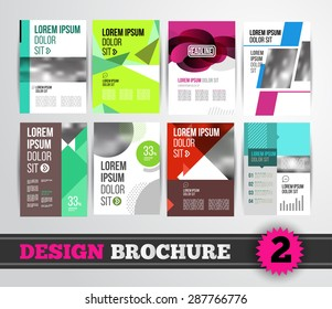 Vector design brochure template for business flyer or presentation. Trend design mega set.
