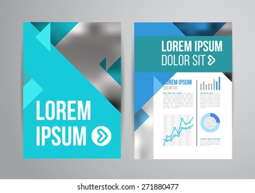 Vector design brochure template with statistic and infographic for business flyer or presentation. Trend design.