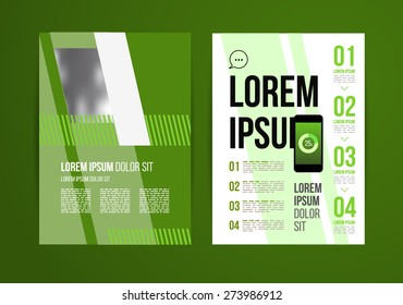 Vector design brochure template with statistic and info graphic for business flyer or presentation. Trend design.