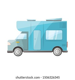 Vector design of bus and motorhome logo. Web element of bus and vintage vector icon for stock.