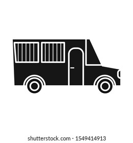 Vector design of bus or truck sign. Web element of bus automobile vector icon for stock.