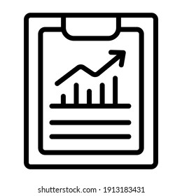 Vector design of business report icon