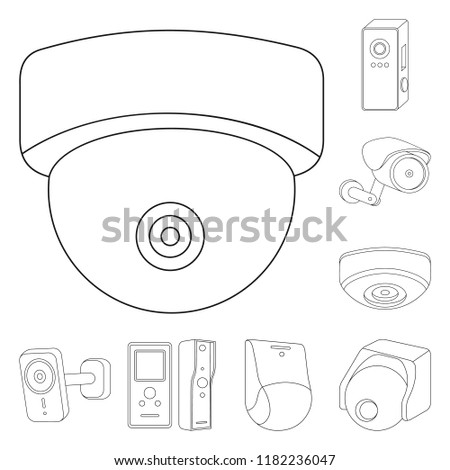 Vector Design Cctv Camera Symbol Collection Stock Vector Royalty