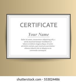Design certificate template business education award stock vector vector design with certificate template business award cheaphphosting Images