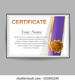 Vector design certificate template business education stock photo vector design with certificate template business award flashek Images