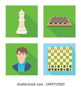 Vector design of checkmate and thin symbol. Set of checkmate and target stock symbol for web.