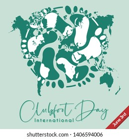 Vector Design for Clubfoot Day on June 3rd