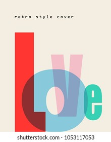 Vector design composition Love font. Valentine's Day.