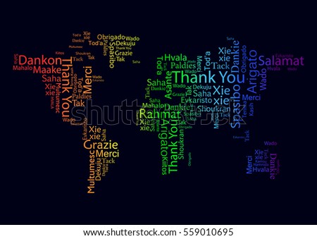 b9401ad42a83 Vector design concept for International Thank You Day or Thanksgiving Day.  Colorful multilingual Thank You