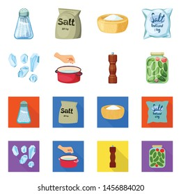Vector design of cooking and sea sign. Collection of cooking and baking vector icon for stock.