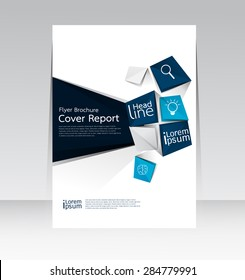 Vector design for Cover Report Annual Brochure Flyer Poster in A4 size