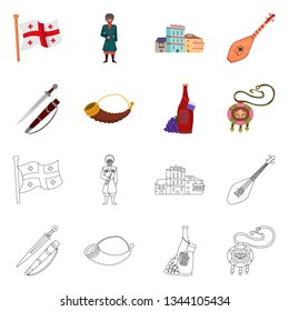 Vector design of culture and sightseeing symbol. Set of culture and originality stock vector illustration.