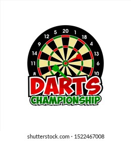 Vector Design Darts Championship Logo
