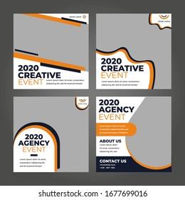 Vector design digital marketing square banner background