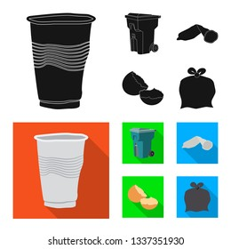 Vector design of dump  and sort icon. Collection of dump  and junk vector icon for stock.