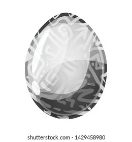 Vector design of egg and dragon logo. Collection of egg and transparent stock symbol for web.
