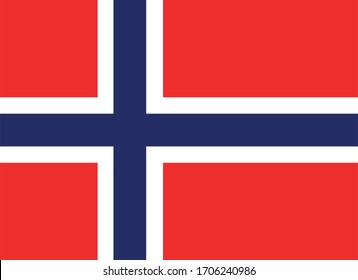 vector design element - flag of Norway
