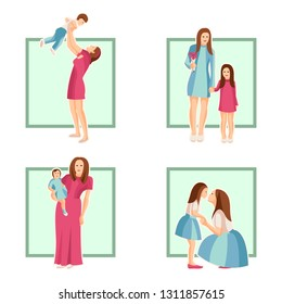 Vector design element of Mothers Day for card, poster, banner