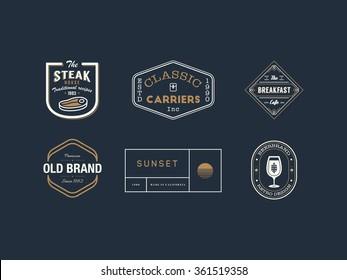 Vector design elements, business signs, logos, identity, labels, badges and objects.